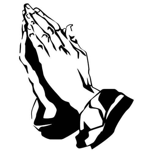 Praying Hands 1 Vinyl Sticker