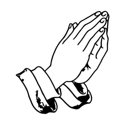 Praying Hands 2 Vinyl Sticker