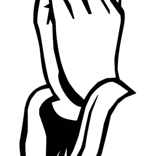 Praying Hands 4 Vinyl Sticker