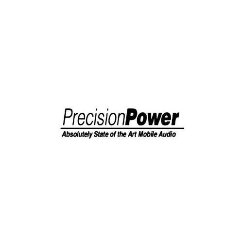 Precision Power Audio Logo Vinyl Sticker