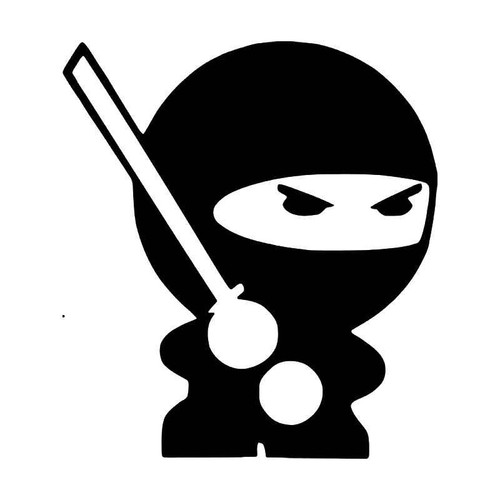 Protected By Ninja Jdm Japanese Vinyl Sticker