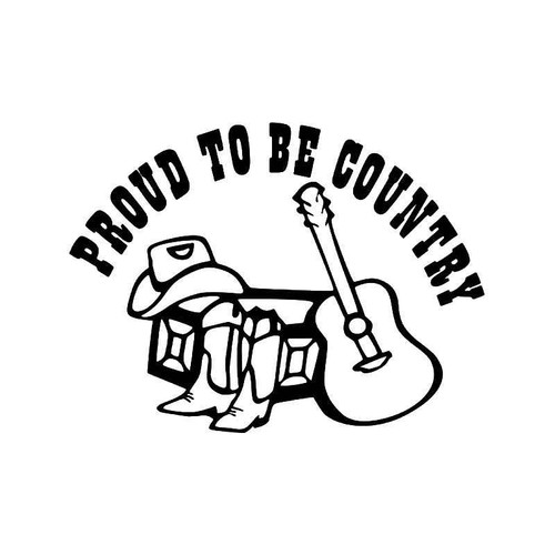 Proud To Be Country Vinyl Sticker