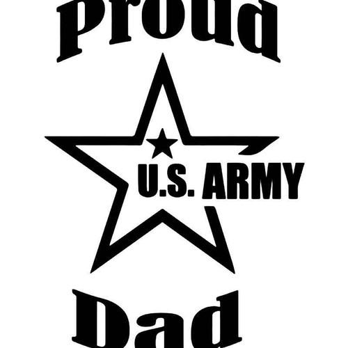 Proud Us Army Dad Vinyl Sticker