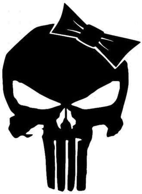 Punisher Skull With Bow