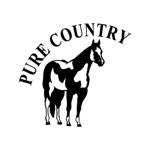 Pure Country Paint Horse Vinyl Sticker