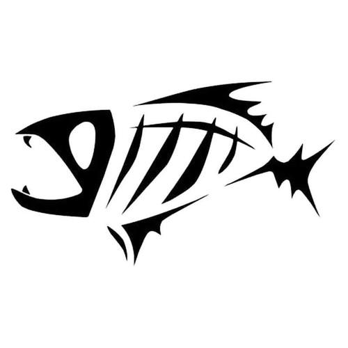 418 Fish Skeleton Vinyl Sticker