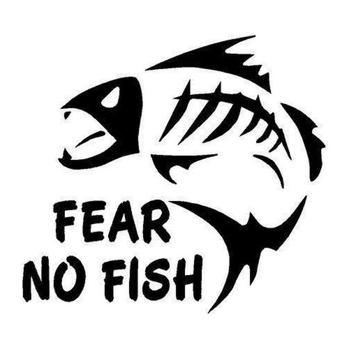 421 Fear No Fish Vinyl Sticker