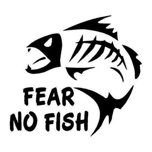 421 Fear No Fish Vinyl Sticker