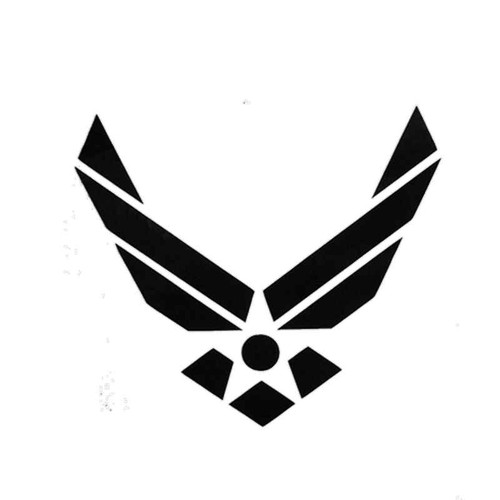 814 Airforce Vinyl Sticker
