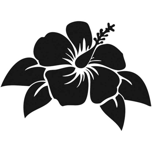 816 Hibiscus Flower Vinyl Sticker
