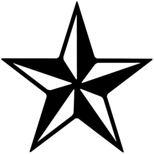 822 Star Vinyl Sticker