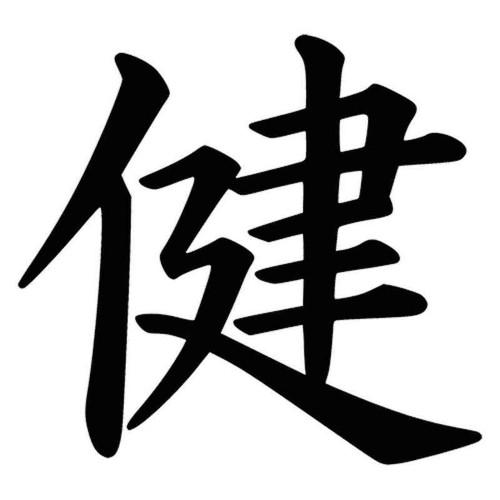 845 Health Kanji Symbol Vinyl Sticker