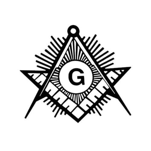 860 Masonic Compass Vinyl Sticker