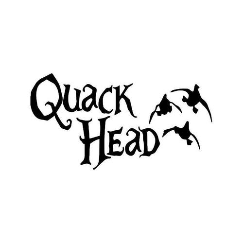 Quack Head Duck Hunting Vinyl Sticker