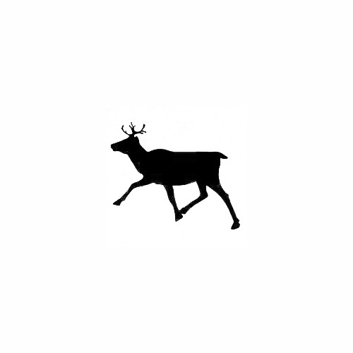 Caribou 05 Size option will determine the size from the longest side Industry standard high performance calendared vinyl film Cut from Oracle 651 2.5 mil Outdoor durability is 7 years Glossy surface finish