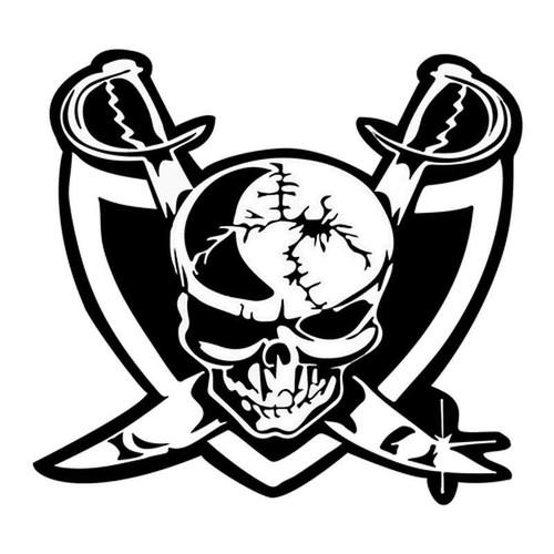 Raiders Skull 178 Vinyl Sticker