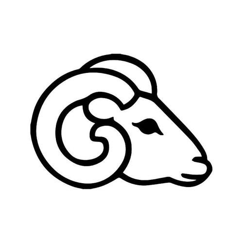 Ram Head Vinyl Sticker