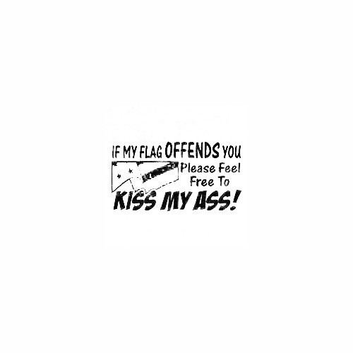 If My Flag Offends You Decal (02) Size option will determine the size from the longest side Industry standard high performance calendared vinyl film Cut from Oracle 651 2.5 mil Outdoor durability is 7 years Glossy surface finish