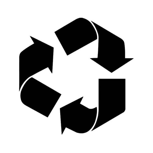 Recycle Reuse Reduce Symbol Vinyl Sticker