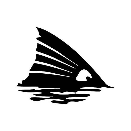 Redfin Fish Fin Fishing Vinyl Sticker