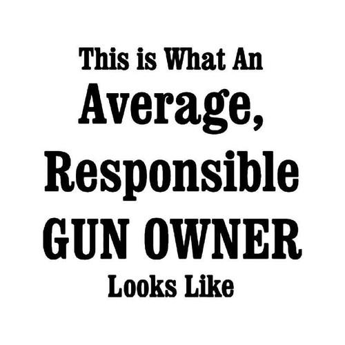 Responsible Gun Owner Vinyl Sticker