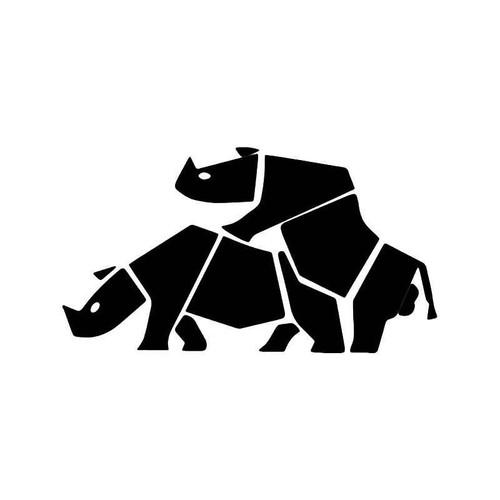 Rhino Animal Sex Funny Vinyl Sticker