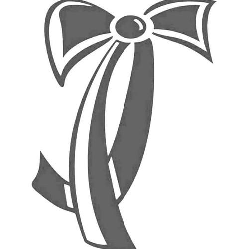 Ribbon Bow Tie Vinyl Sticker