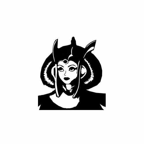 Star Wars Queen  Vinyl Decal Sticker  Size option will determine the size from the longest side Industry standard high performance calendared vinyl film Cut from Oracle 651 2.5 mil Outdoor durability is 7 years Glossy surface finish