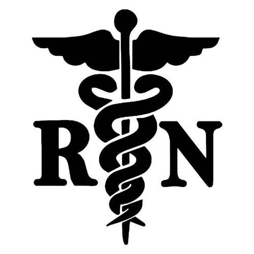 RN Nurse Medical Emblem Vinyl Decal