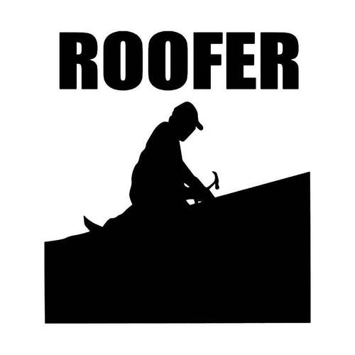 Roofer House Vinyl Sticker