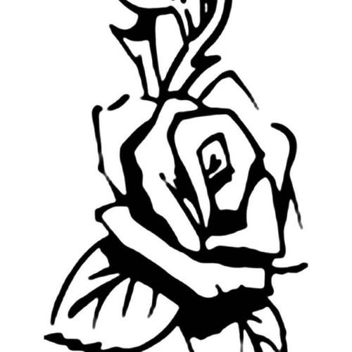 Rose Flower 10 Vinyl Sticker