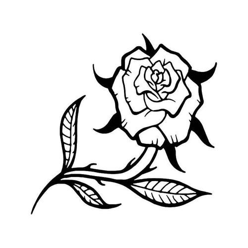 Rose Flower 2 Vinyl Sticker