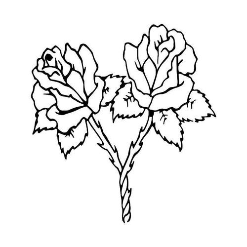 Rose Flower 9 Vinyl Sticker