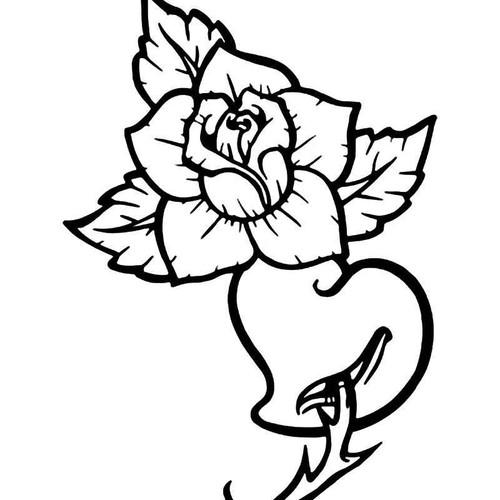 Rose He Love 1 Vinyl Sticker