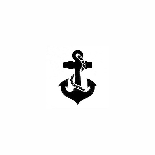 Solid Anchor With Rope Decal Size option will determine the size from the longest side Industry standard high performance calendared vinyl film Cut from Oracle 651 2.5 mil Outdoor durability is 7 years Glossy surface finish