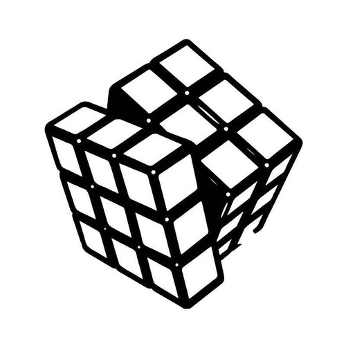 Rubix S Cube Gaming 1 Vinyl Sticker
