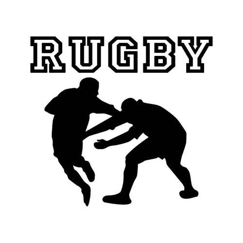 Rugby Vinyl Sticker