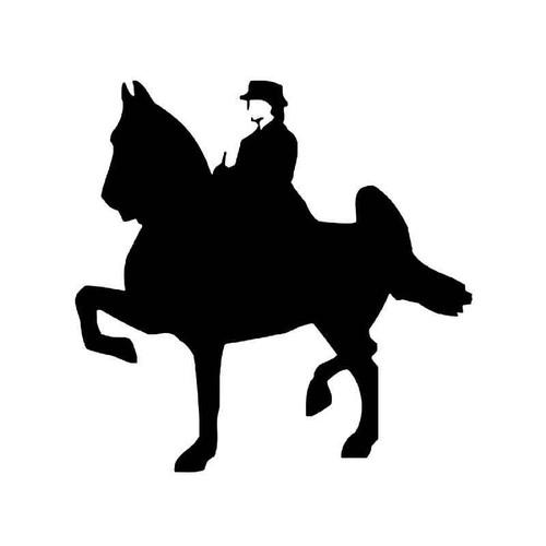 Saddlebred Horse Vinyl Sticker