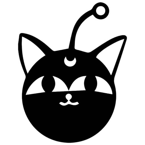 Sailor Moon Robot Cat Vinyl Sticker