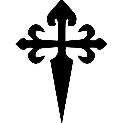 Saint James Santiago Cross Vinyl Sticker