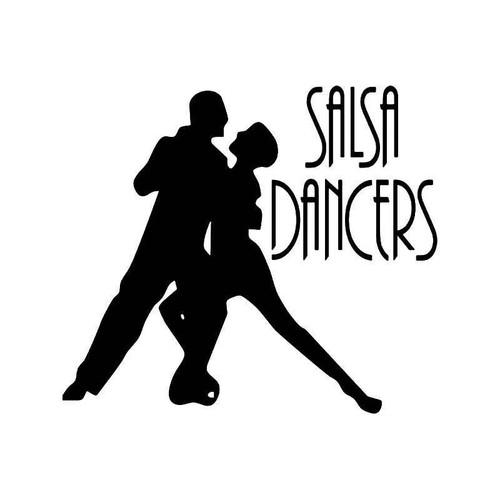Salsa Dancers Vinyl Sticker