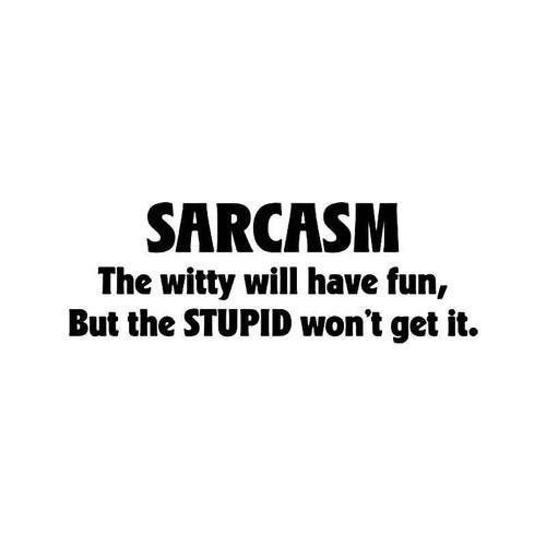 Sarcasm Stupid Fun Quote Vinyl Sticker
