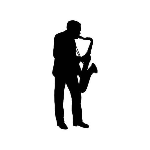 Saxophone Player Vinyl Sticker