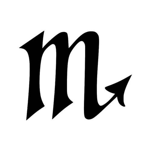 Scorpio Horoscope Symbol Vinyl Sticker