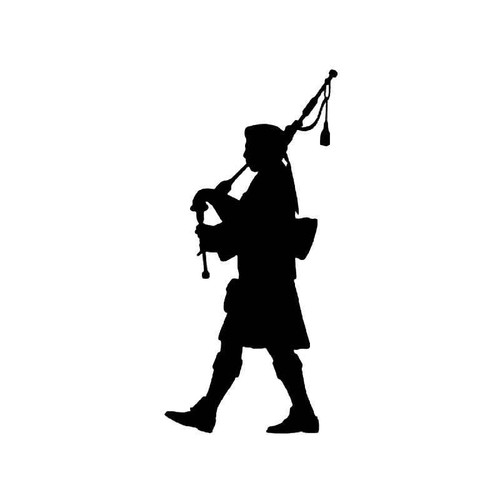 Scottish Piper Vinyl Sticker