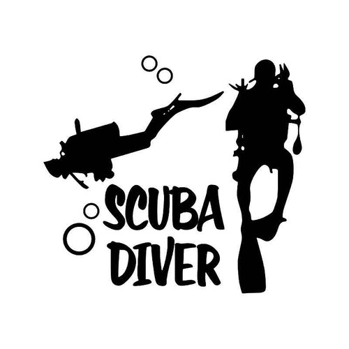 Scuba Diver Vinyl Sticker
