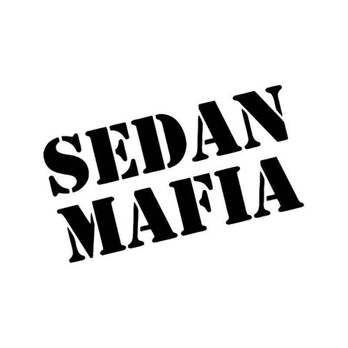 Sedan Mafia Jdm Japanese Vinyl Sticker
