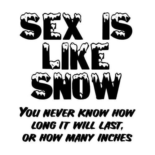 Sex Snow Funny Vinyl Sticker