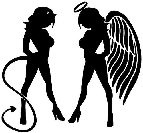 Sexy Angel and Devil