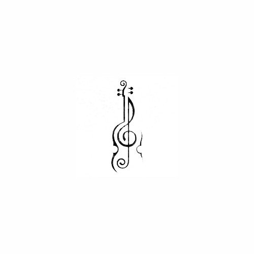 Treble Clef Violin Decal Size option will determine the size from the longest side Industry standard high performance calendared vinyl film Cut from Oracle 651 2.5 mil Outdoor durability is 7 years Glossy surface finish